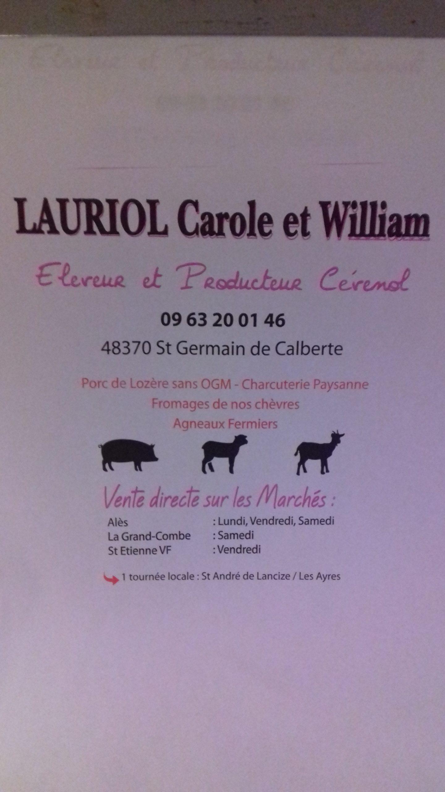 Lauriol Carole & William